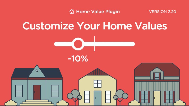 Customize Home Values on our Home Value WordPress Plugin