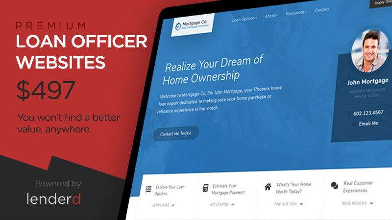 Premium Loan Officer Website Themes for Less Than $500