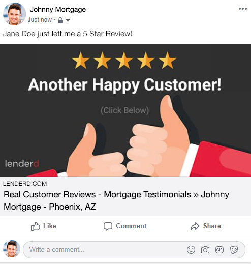 Mortgage Review Facebook Sample