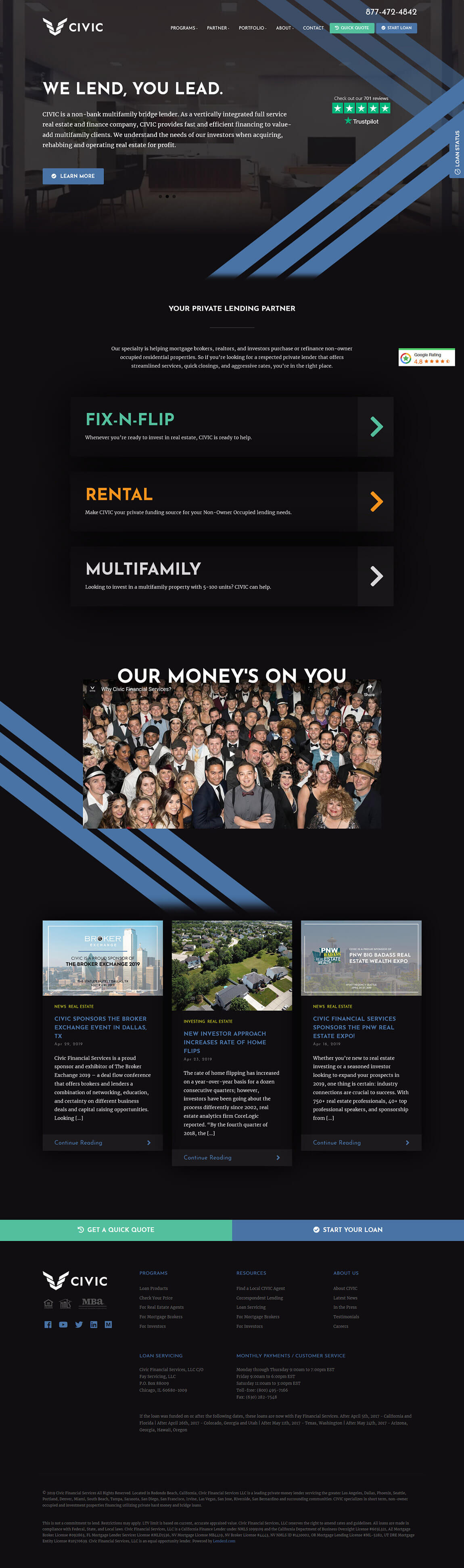 Civic Financial Website Designers