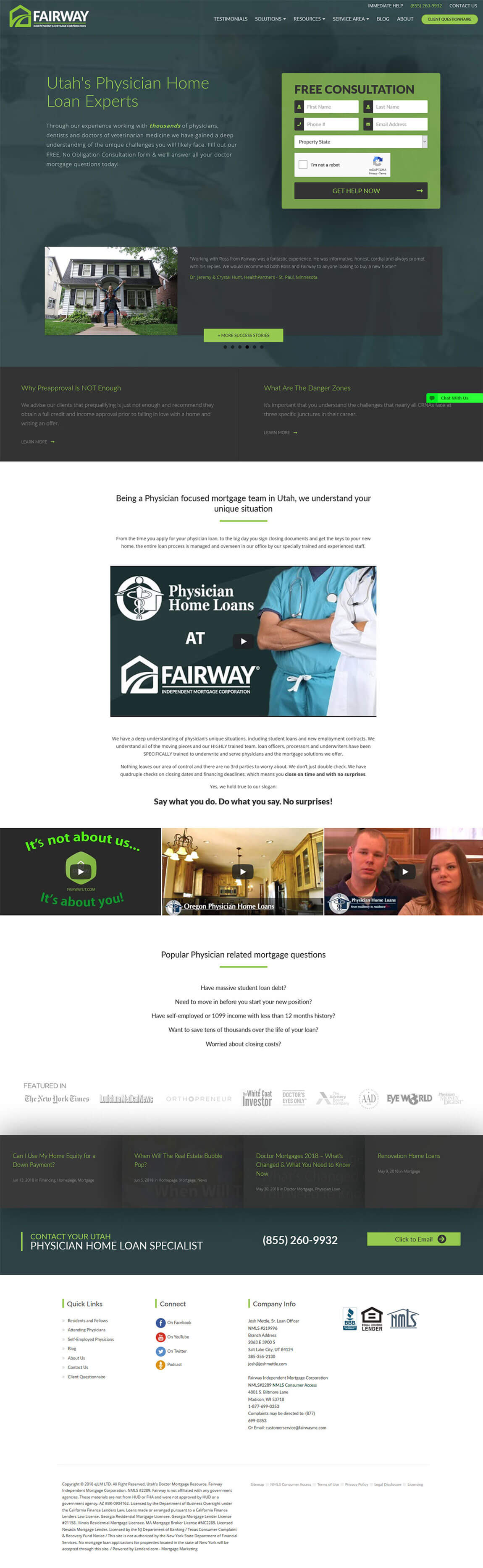 Fairway Mortgage Website Design