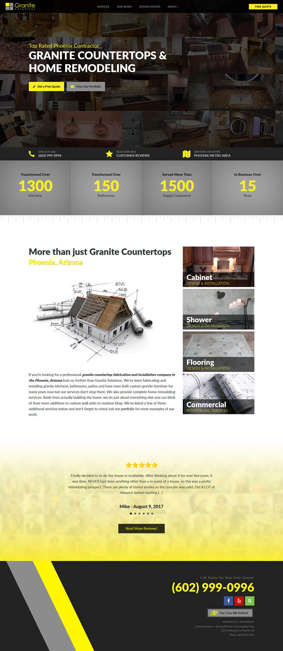 Granite Solutions Website Design