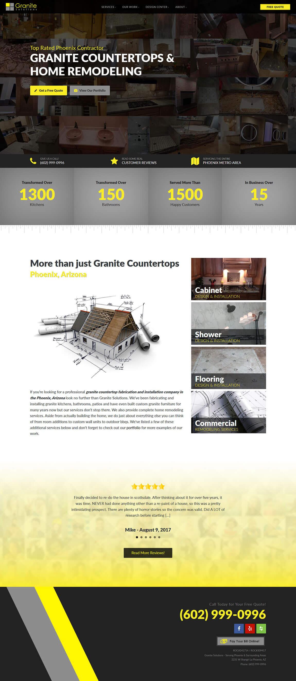 Granite Solutions Website Design