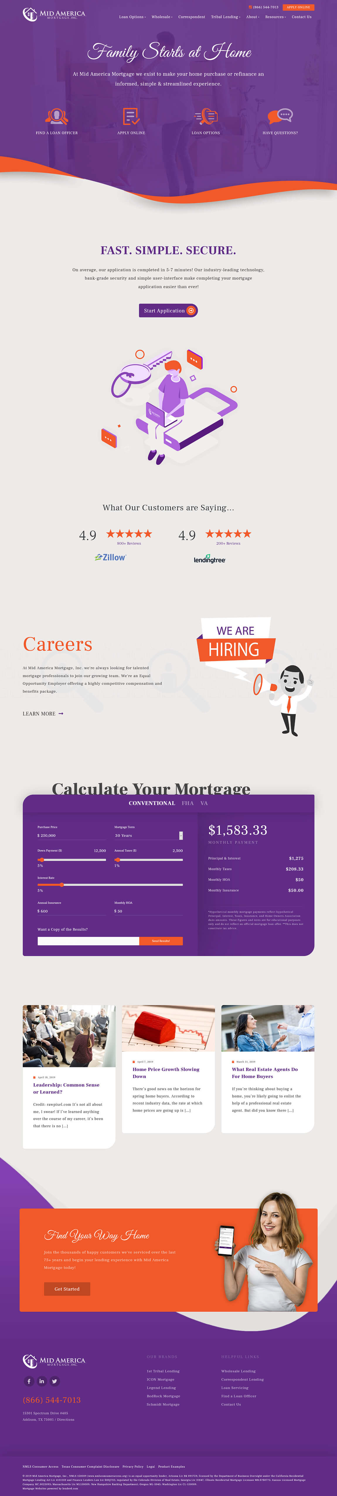 Mid America Mortgage Website Design