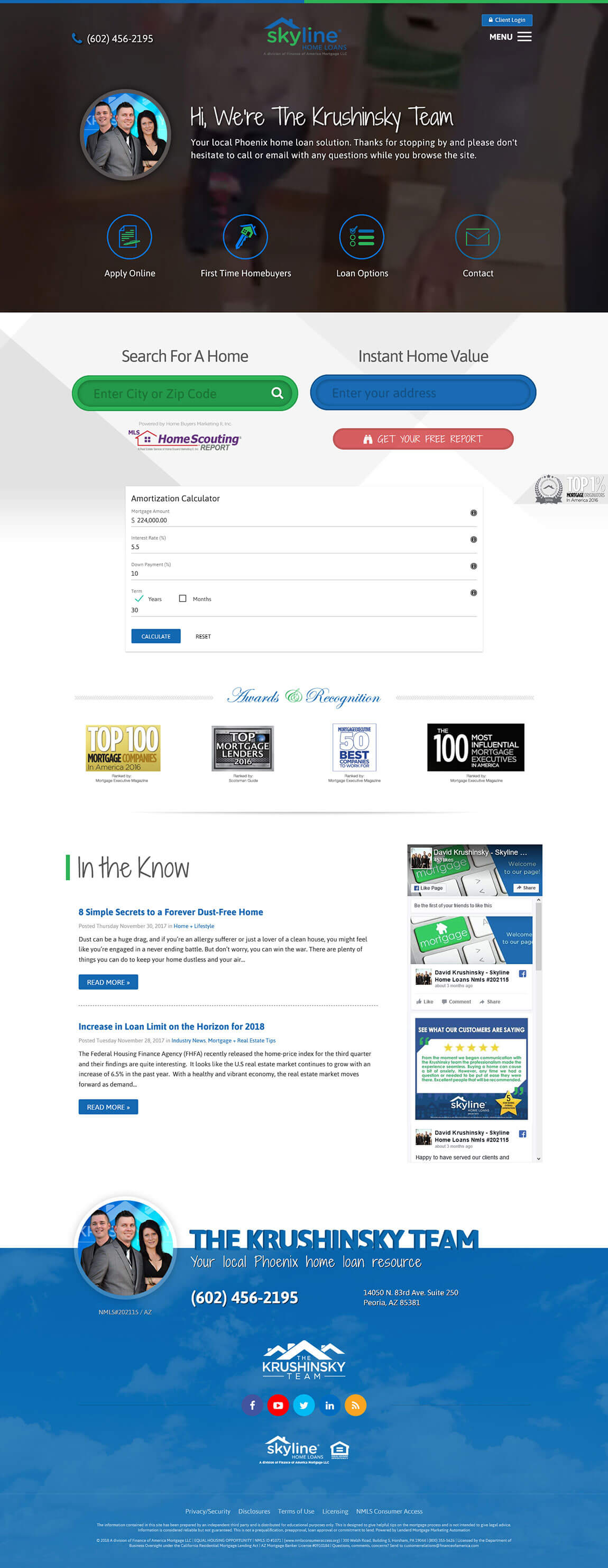 Skyline Home Loans Website Design