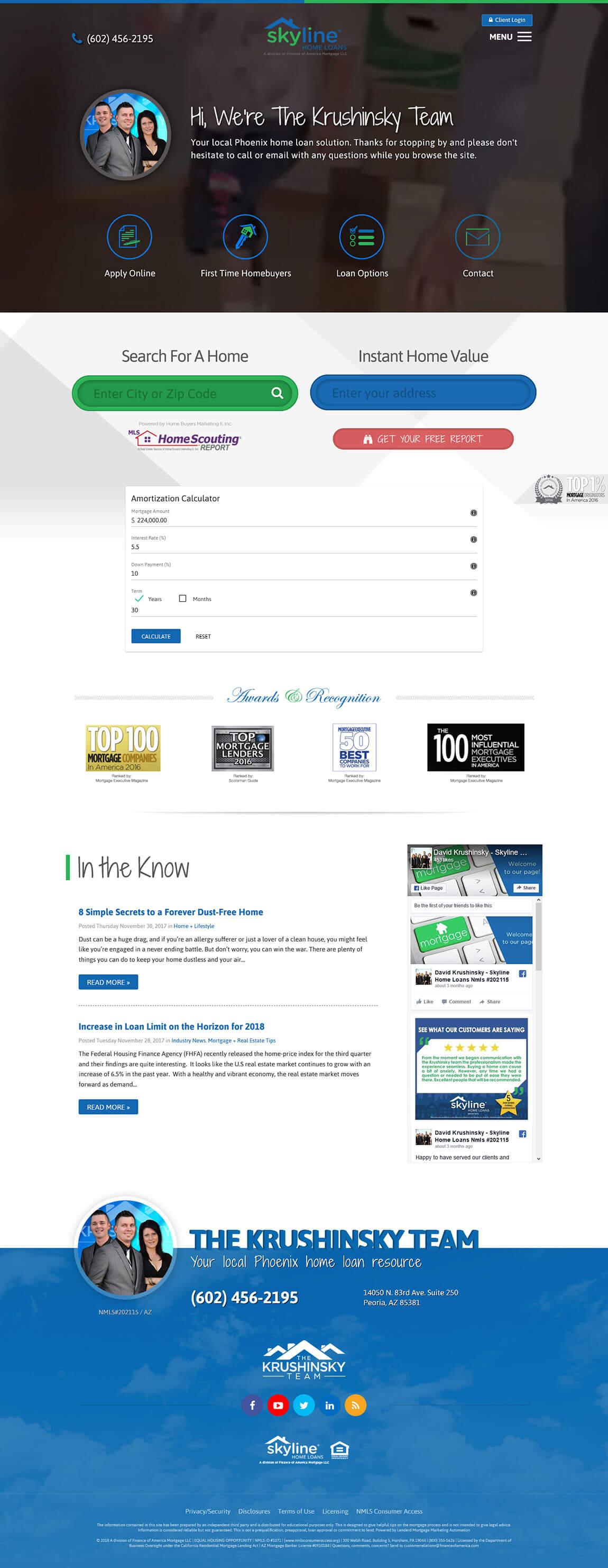 Skyline Home Loans Website Design