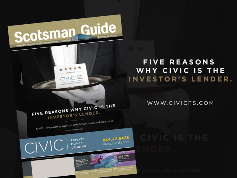 CIVIC Featured on Cover of May's Commercial Edition of Scotsman Guide