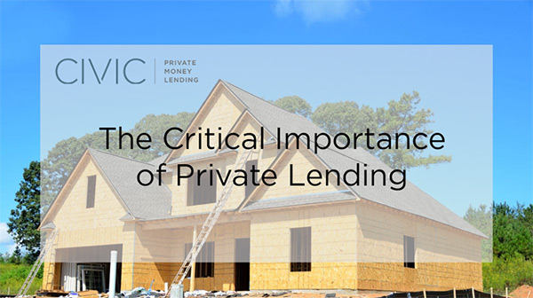 The Critical Importance of Private Lending