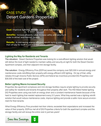 American Energy Efficiencies Apartment Complex Lighting Case Study