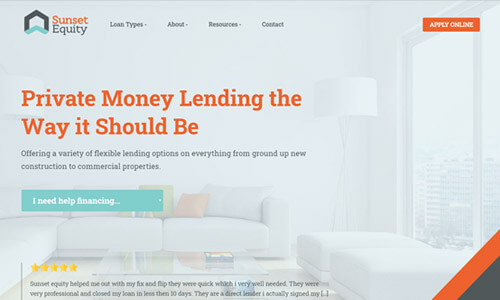 Custom Mortgage Website 1
