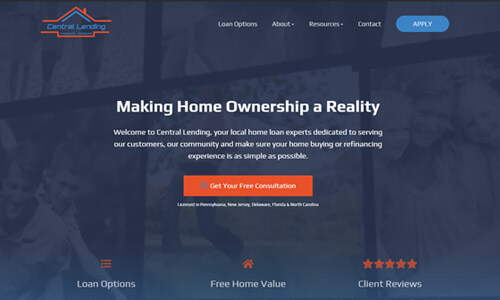 Custom Mortgage Website 2