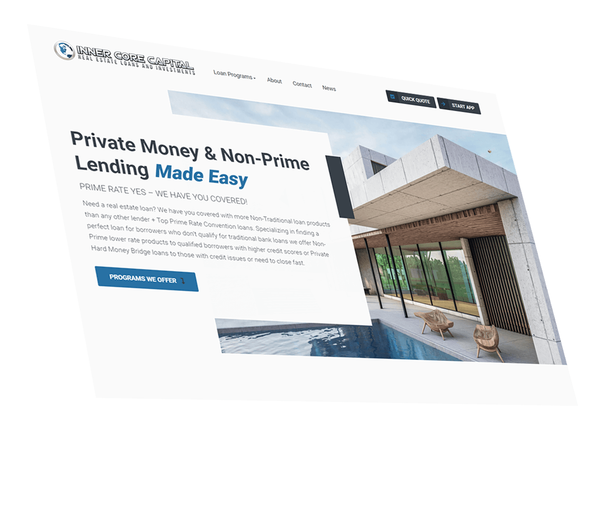 Civic Financial Private Lender Website