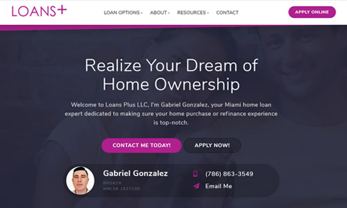 Loan Officer Website Using Theme 2
