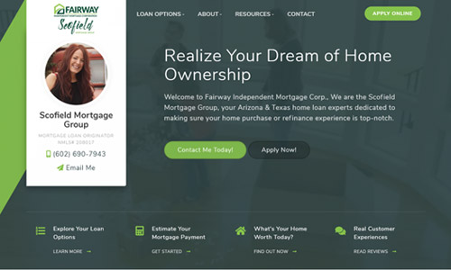 Loan Officer Website Using Theme 3