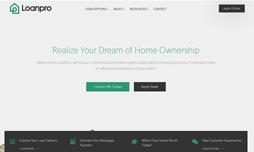 Loan Officer Website Using Theme 4
